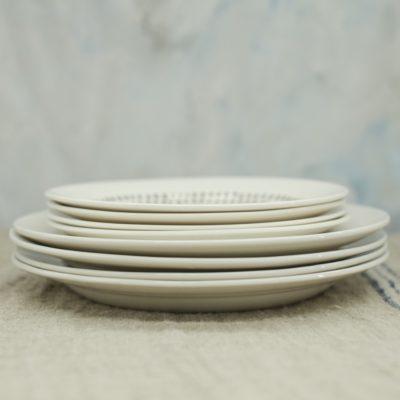 Grey Drop Serving & Side Plate