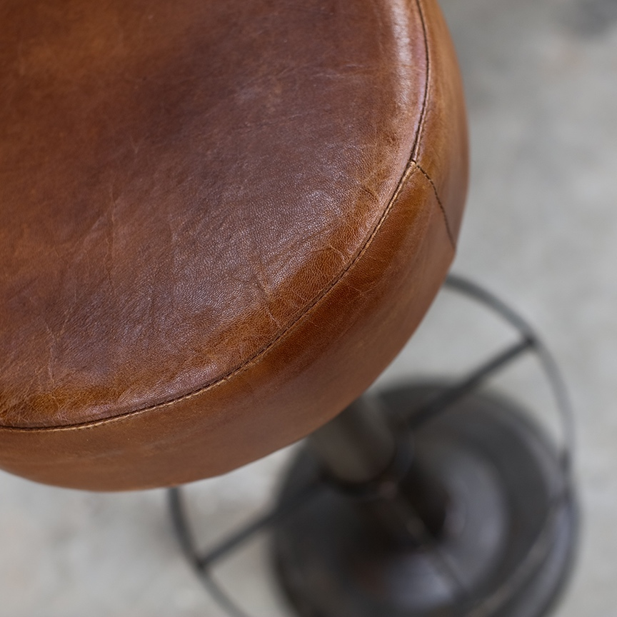 Leather Bar Stool2