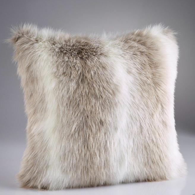 Reindeer Faux Fur Cushion Pair Furnish Every Season