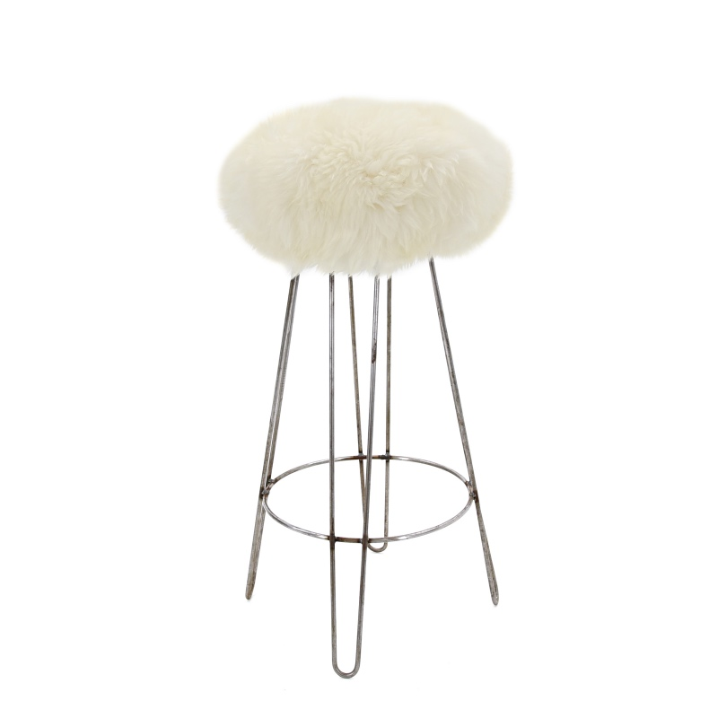 Sheepskin Bar Stool Furnish Every Season
