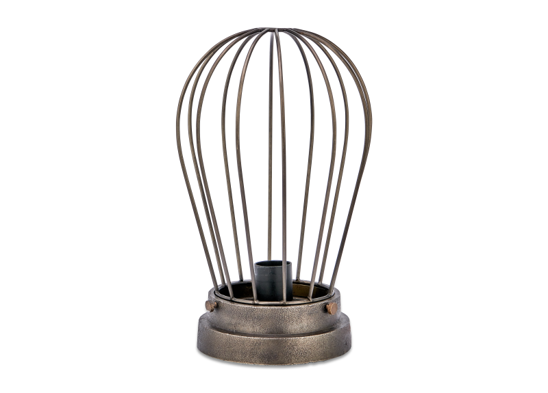 Paru Industrial Caged Lamp – Bronze_Fotor